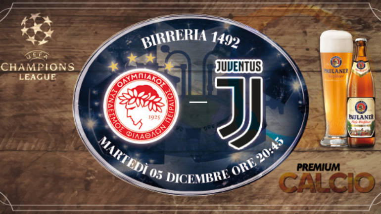 Champions League: Olympiacos – Juventus